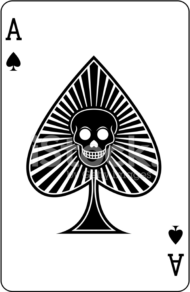 ace of spades with skull playing card stock vector clip art bicycle crash black 7 white clip art bicycle crash black 7 white