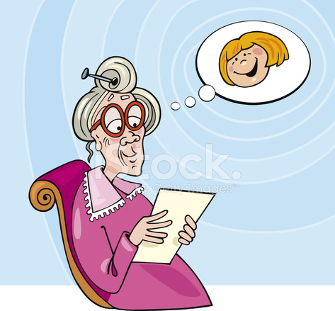 Lachelnd Oma Auf Sessel Stock Vector Freeimages Com