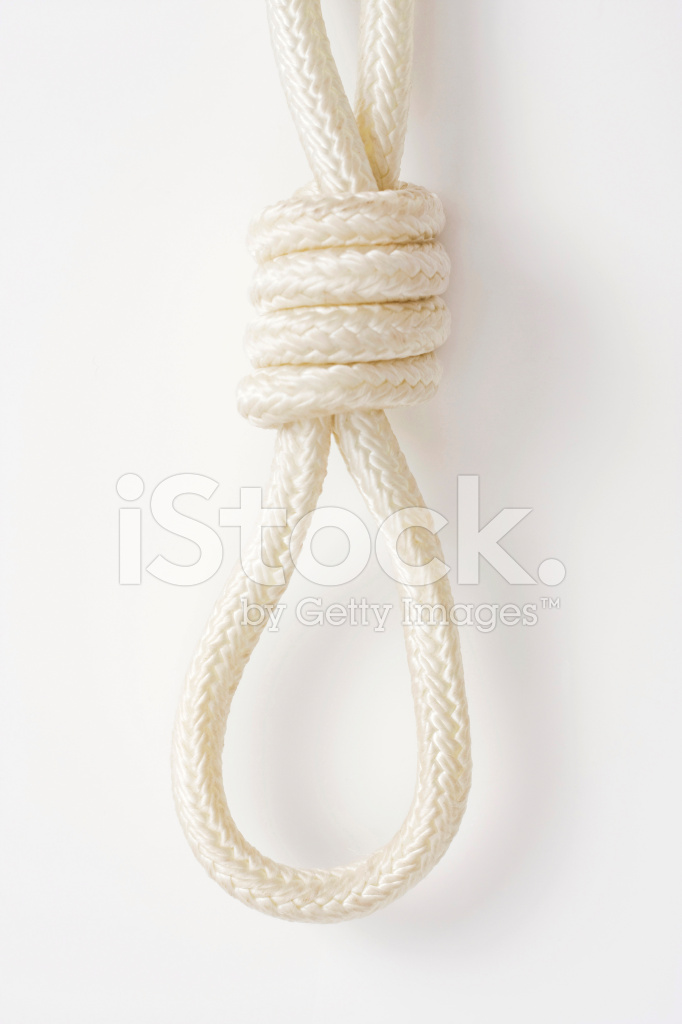Hanging Noose Made of White Rope Stock Photos - FreeImages.com