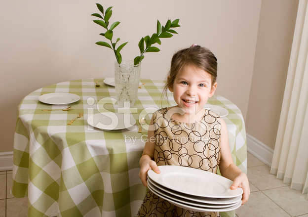 Girl Setting Table Stock Photos Freeimages Com