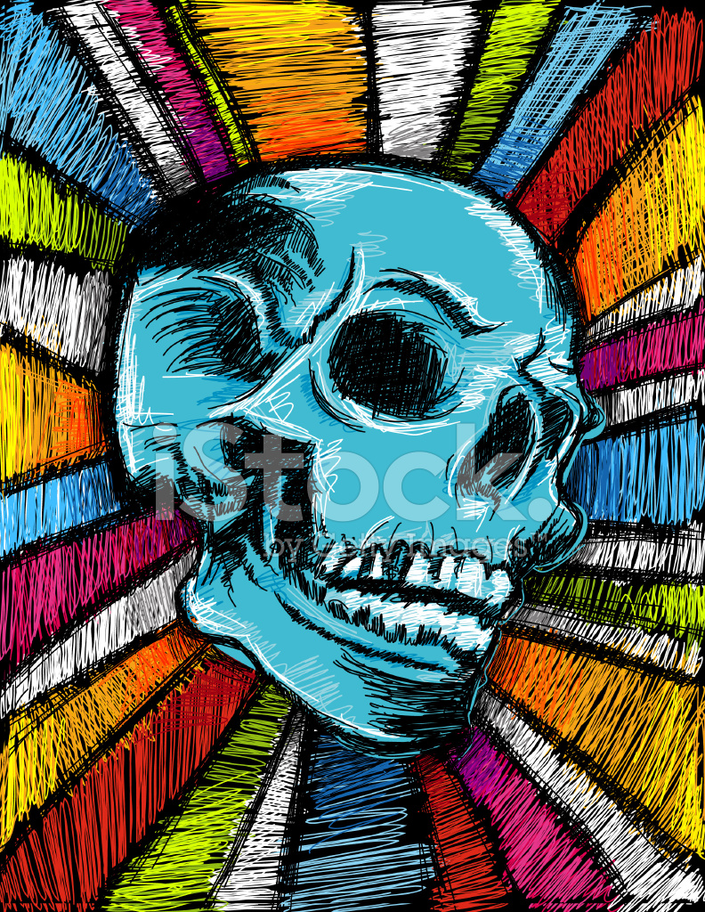 funky skull stock vector freeimages com