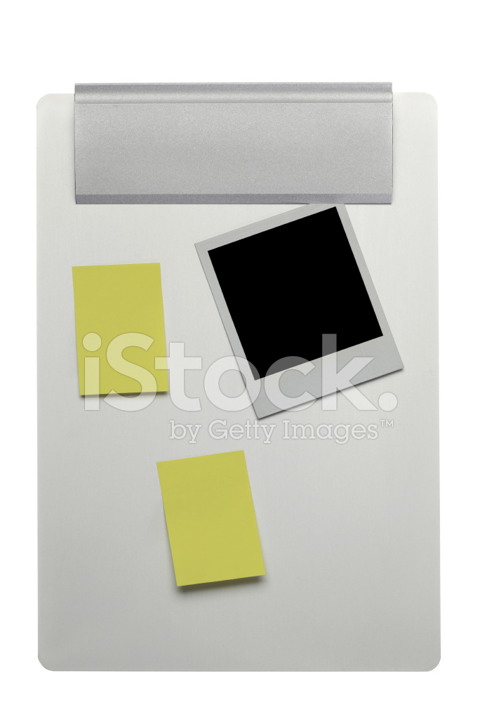 Clipboard With Post Its and A Photo Frame (clipping Paths) Stock ...