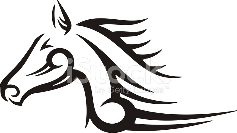 tribal horse stock vector