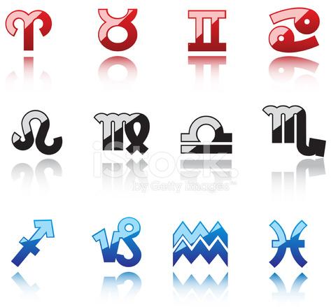 Lucidi Simboli Delloroscopo Stock Vector Freeimages