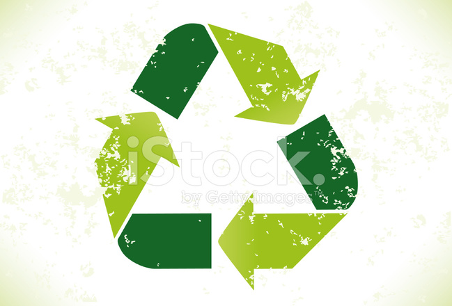 Grunge Recycling Symbool Stock Vector Freeimages
