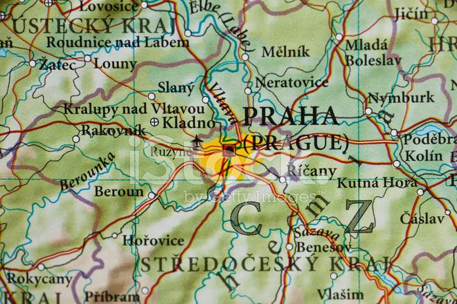 Prag Karte Tschechien.Karte Von Prag Tschechien Stockfotos Freeimages Com