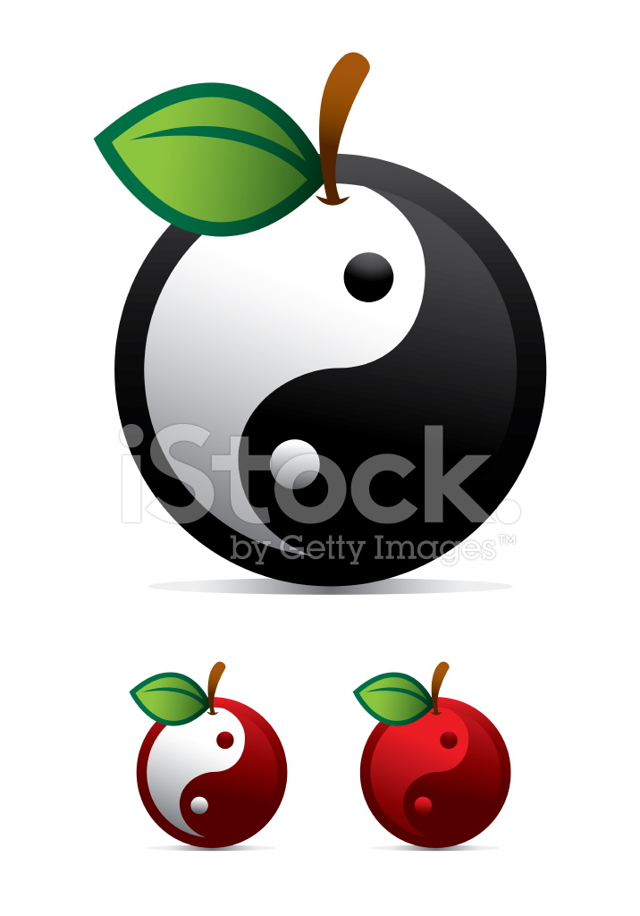 Conceptual Yin Yang Fruit Stock Vector Freeimages