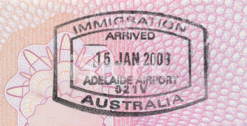 Passport Stamp Australia Stock Photos
