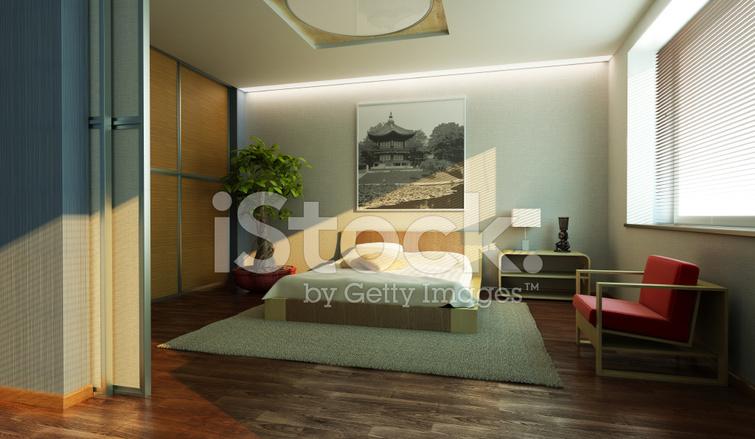 Camere Da Letto Stile Orientale : Interno camera da letto in stile giapponese fotografie stock