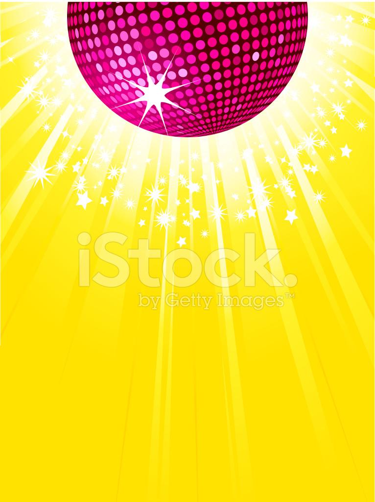 roze disco bal partij achtergrond stock vector freeimages com