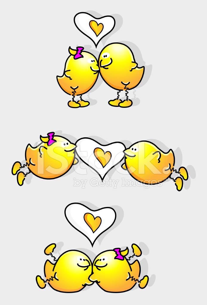 Aves De Dibujos Animados En El Amor Stock Vector Freeimagescom
