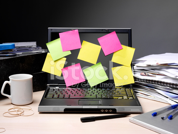 Post It Notes On A Computer Stock Photos Freeimages Com