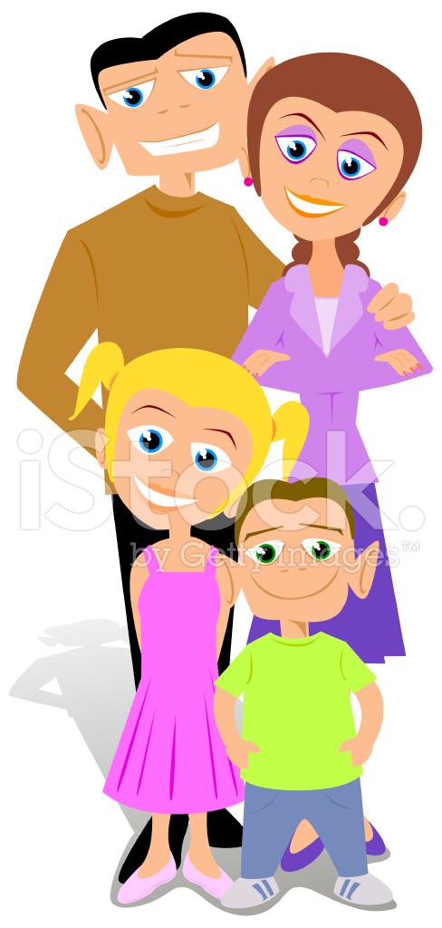Dibujos Animados Familia Feliz Stock Vector Freeimagescom
