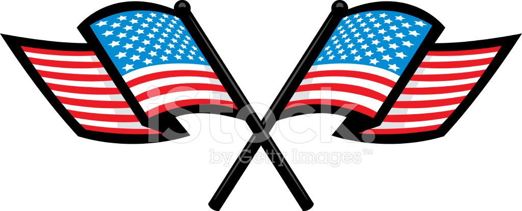 crossed american flags stock vector freeimages com rh freeimages com American Flag Banner Clip Art American Flag Clip Art Animated
