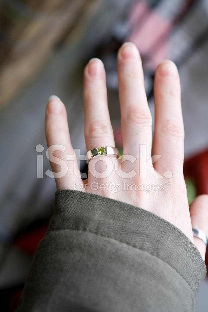 Girls Hand With Engagement Ring Stock Photos - FreeImages.com