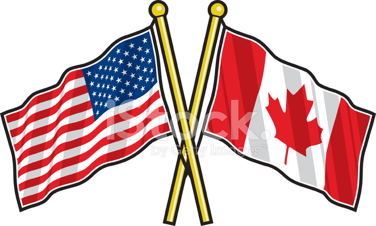 american and canadian friendship flag stock vector freeimages com