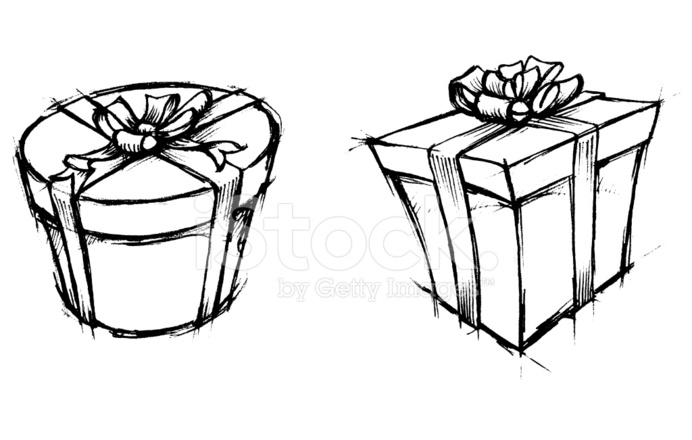 Caja De Regalo Dibujo Stock Vector Freeimagescom