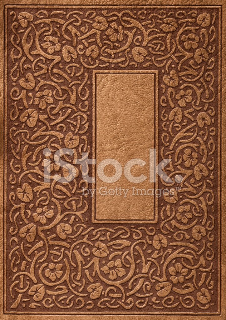 Old Fashioned Book Cover : Ornate leather book cover background stock photos
