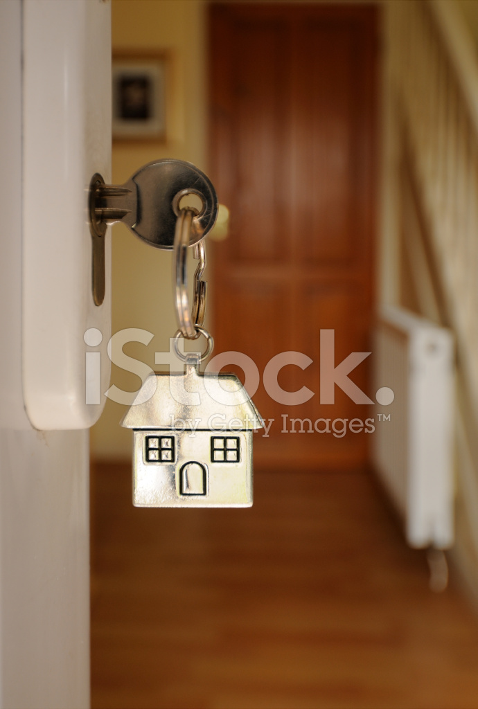 Key In Open Door And Hallway Stock Photos Freeimages Com