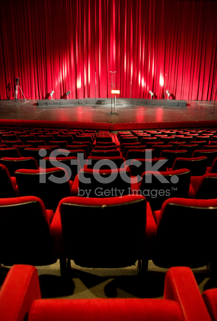 bioscoop theater rode interieur