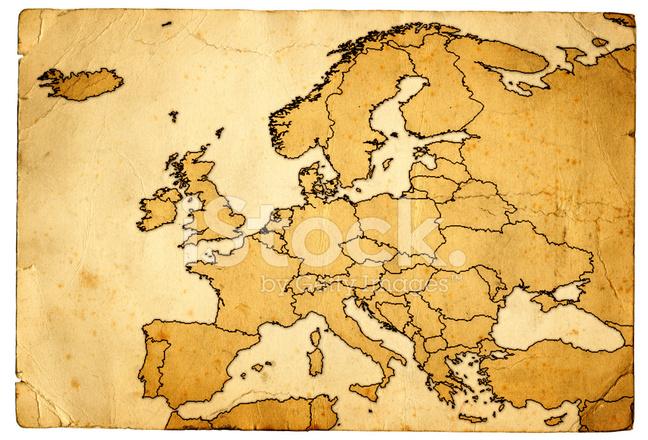 karta över europa map Grunge Karta Över Europa Stockfoton   FreeImages.com karta över europa map