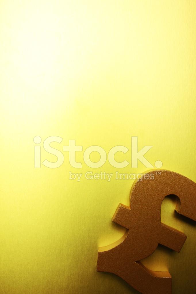 Golden British Pound Symbol Stock Photos Freeimages