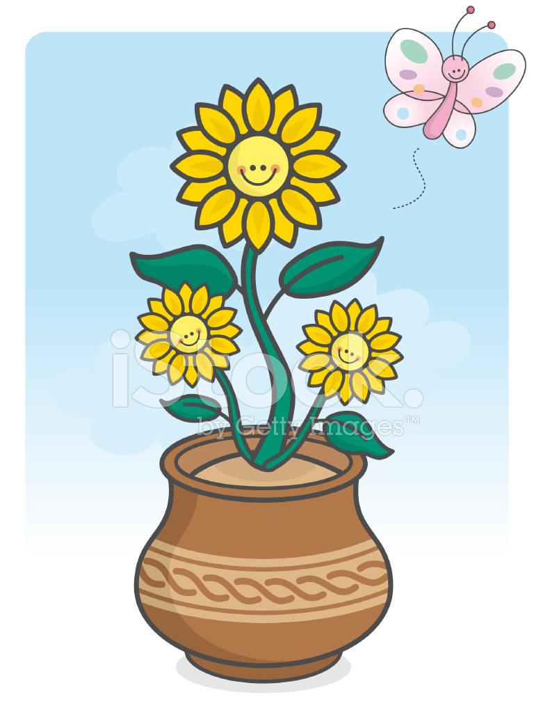 煲仔饭 绿色的颜色 飞行 矢量 笑脸 增长 说明 可爱的卡哇伊向日葵