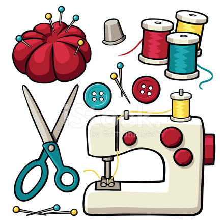 Sewing Items Stock Vector Freeimages Com