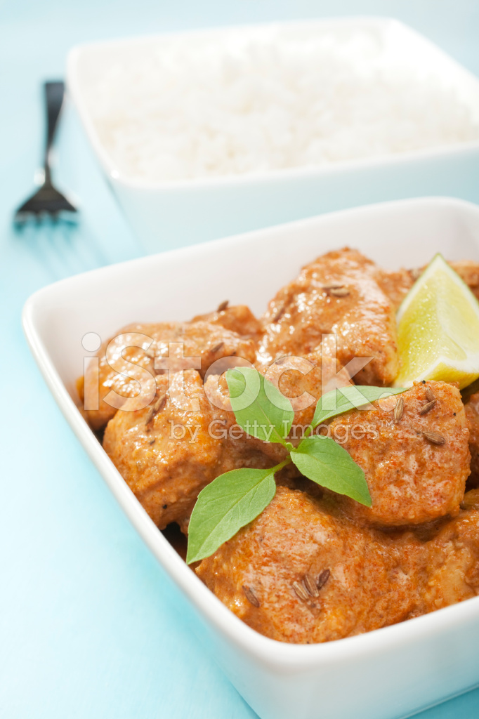 Indian meal food cuisine meat butter chicken curry stock - Herve cuisine butter chicken ...