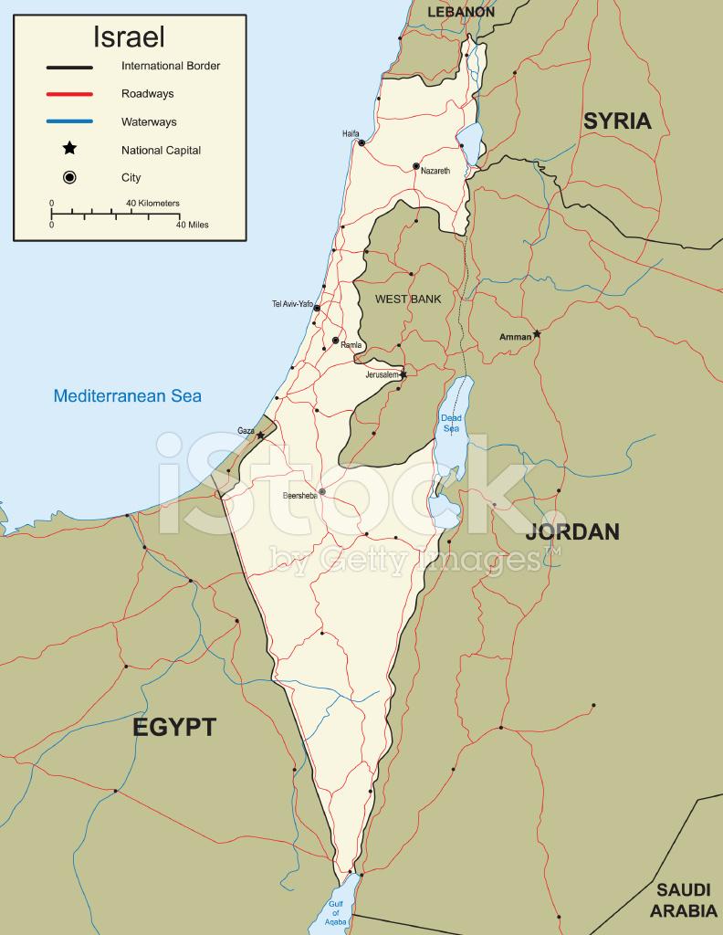 karta över israel Karta Över Israel Stock Vector   FreeImages.com karta över israel