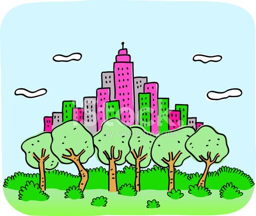 Horizonte DE LA Ciudad Con rboles DE Naturaleza Verde Y Parque