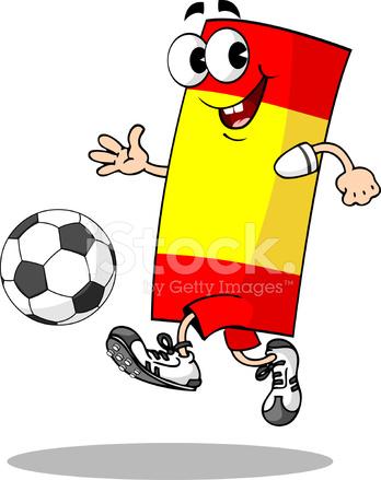 Personnage de dessin anim football espagne stock vector - Dessin espagne ...