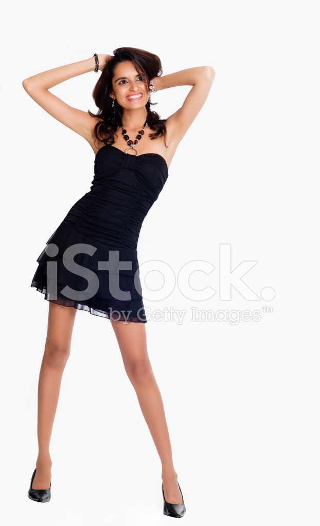 681266bd3e Indian Woman Wearing Black Dress Stock Photos - FreeImages.com