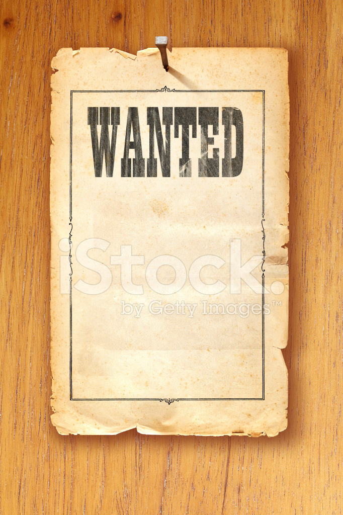 Old Fashioned Wanted Poster Template