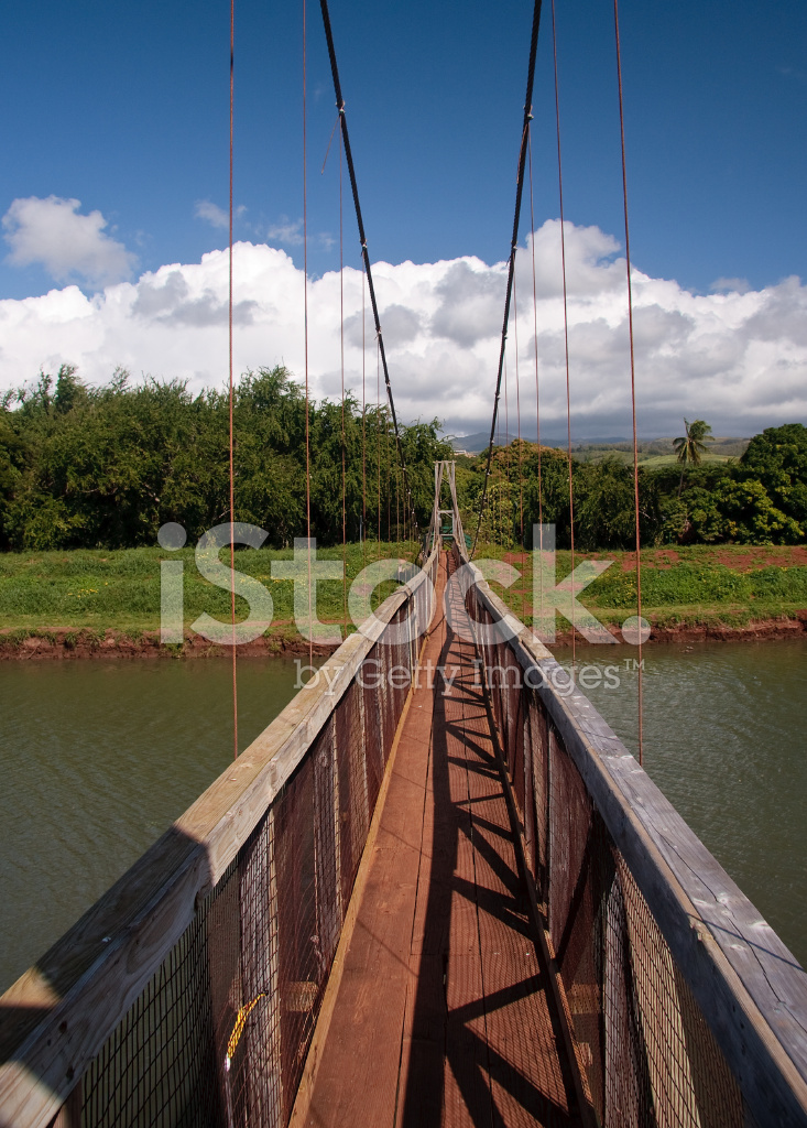 Hanapepe Swinging Bridge In Kauai Stock Photos Freeimages Com