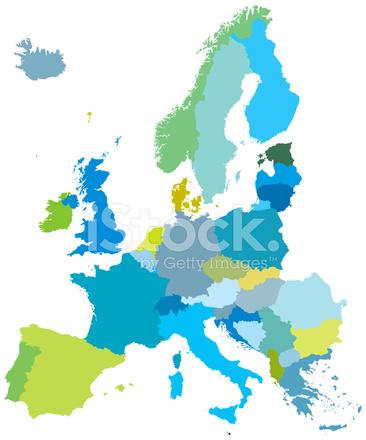 Karte Eu.Europa Karte Eu Detaillierte Karten Stock Vector Freeimages Com