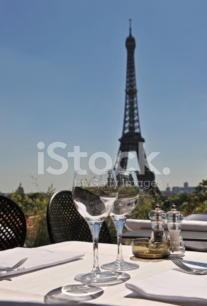 restaurant and eiffel tower stock photos. Black Bedroom Furniture Sets. Home Design Ideas