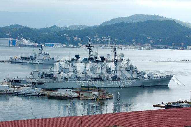 イタリア海軍は海軍船 ストック...