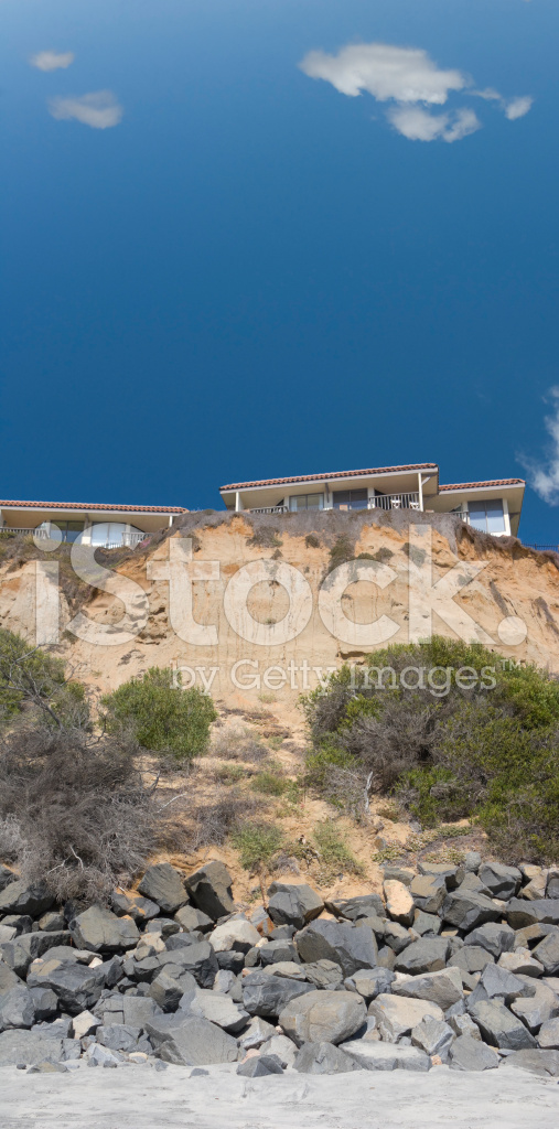 Del Mar Cliffs Housing Near San Diego Ca Stock Photos