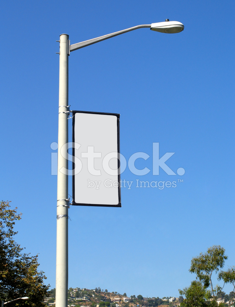 Blank banner on light post stock photos freeimages blank banner on light post mozeypictures Images