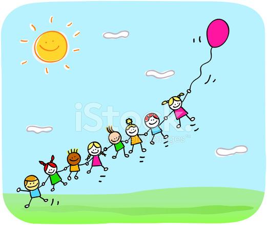 ni u00f1os felices jugando con el bal u00f3n en dibujos animados de primavera  verano fotograf u00edas de stock steam engine clipart free steam train clip art
