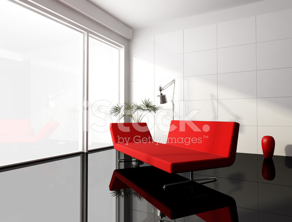 Minimale Rood Zwart Wit Woonkamer Stockfoto\'s - FreeImages.com