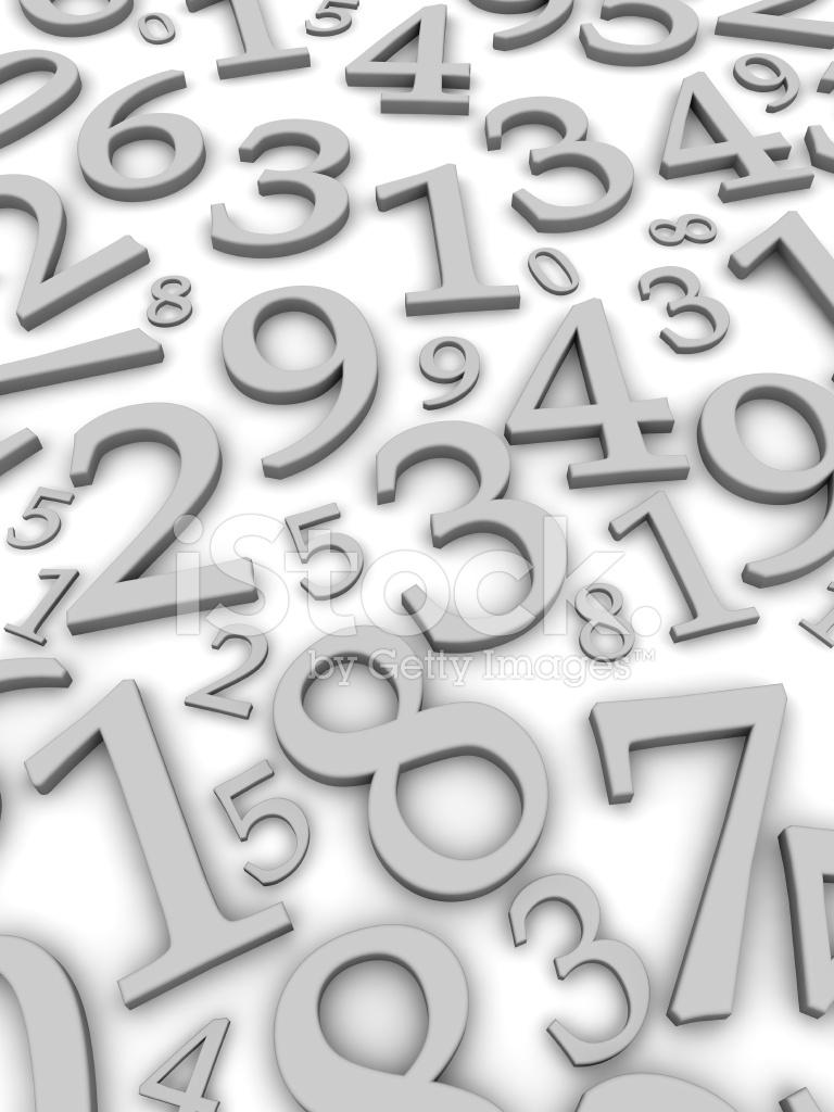 Sfondo Numeri In Bianco E Nero Fotografie Stock Freeimagescom