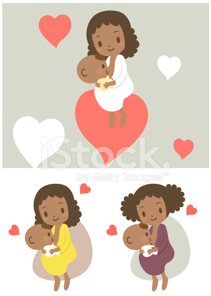 Love Mother Breastfeeding Baby Boy Girl Stock Vector Freeimages Com