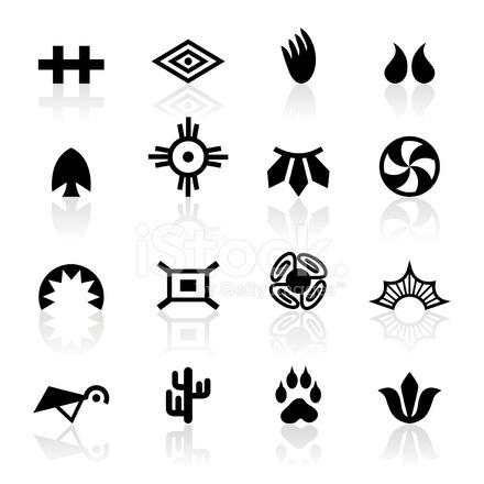 symboles noirs tribal indien stock vector. Black Bedroom Furniture Sets. Home Design Ideas