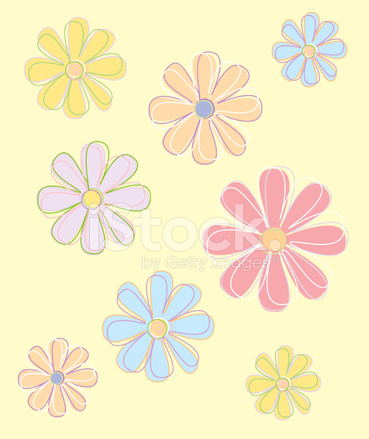 Flowers In Pastel Colors Vector Stock Vector Freeimages Com