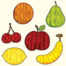 Fruit Text Icon Stock Vector Freeimages Com