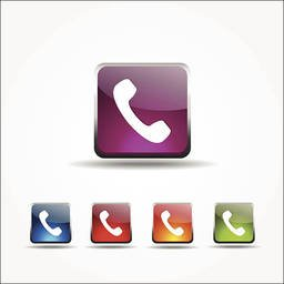 Phone Colorful Vector Icon Design Stock Vector Freeimages Com