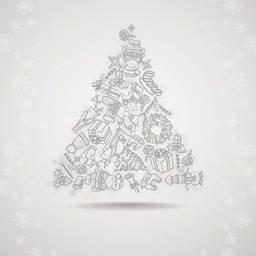 手描きクリスマス セット 画像をストックする Freeimages Com