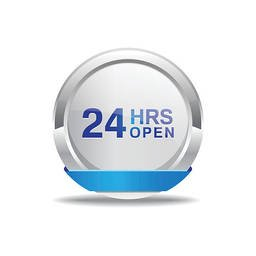 24 Hours Open Blue Vector Icon Button Stock Vector Freeimages Com
